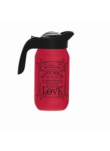 Herevin Herevin 111282-121 Kitchen Love Desenli Sürahi Kırmızı Kırmızı